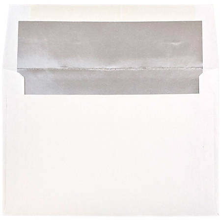 "JAM Paper® Booklet Invitation Envelopes, A8, 5 1/2"" x 8 1/8"", Silver/White, Pack Of 25"