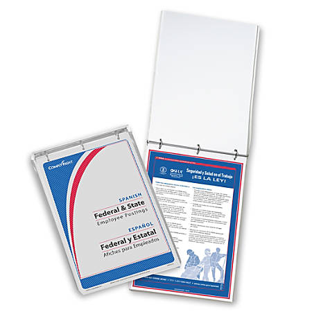 "ComplyRight Federal/State Remote Worksite Labor Law Binder With 1-Year Replacement Service, Spanish, Indiana, 11"" x 17"""