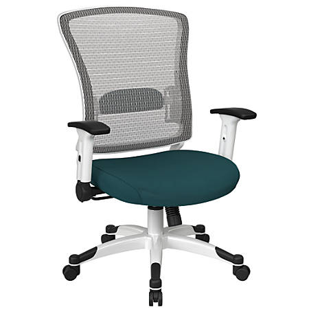 Office Star™ Space Seating Mesh Mid-Back Chair, Mesh Blue/White