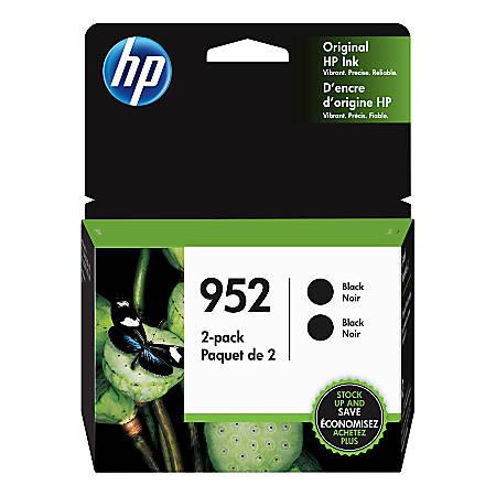 HP 952 Black Ink Cartridges, Pack Of 2 Ink Cartridges