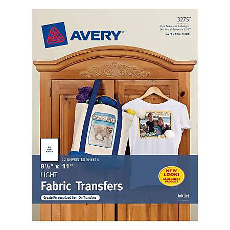 Avery Inkjet Printer T Shirt Transfer Paper 8 12 X 11 Pack