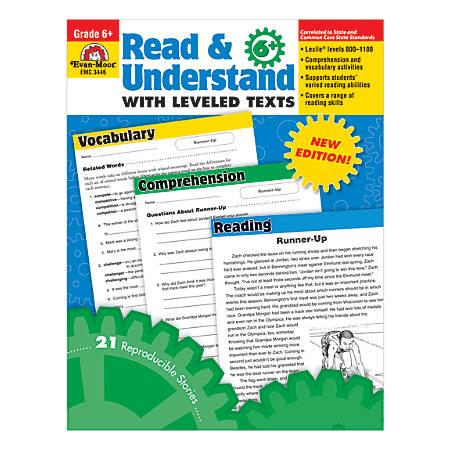 Evan-Moor® Read & Understand With Leveled Texts, Grade 6