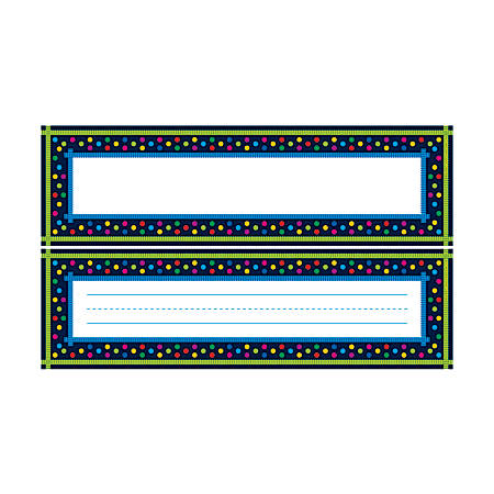 """Barker Creek Single-Sided Desk Tags/Bulletin Board Signs, 12"""" x 3 1/2"""", Italy, Pre-K To Grade 6, Pack Of 36"""
