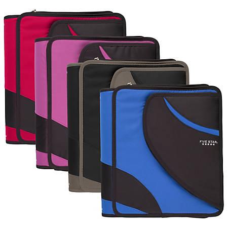 "Five Star® Zipper Binder, 8 1/2"" x 11"", 1 1/2"" Rings, Assorted Colors"