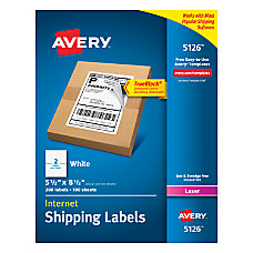 Avery TrueBlock White Laser Shipping Labels