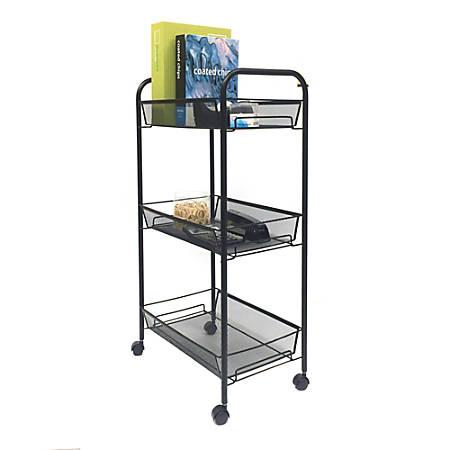 mind reader roll metal mesh rolling - Rolling Utility Cart