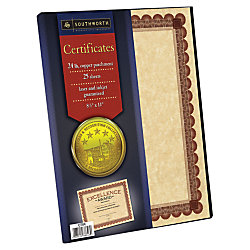 Southworth awardcertificate paper templates copper with red brown southworth awardcertificate paper templates copper with red brown border yelopaper Image collections