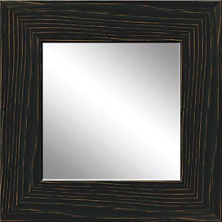 """PTM Images Framed Mirror, Wood, 20""""H x 20""""W, Black"""