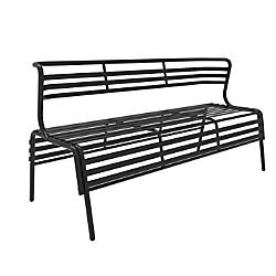 Safco CoGo IndoorOutdoor Bench With Back