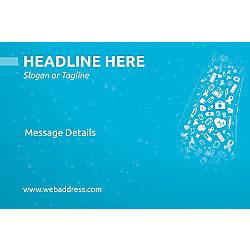 Adhesive Sign Heath Icons Horizontal