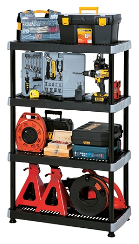Rimax Heavy Duty Storage Shelves 4 Tiers Black Use And Keys To Zoom In Out Arrow Move The Zoomed Portion Of Image