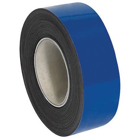 """Office Depot® Brand Magnetic Warehouse Label Roll, LH149, 2"""" x 100', Blue"""