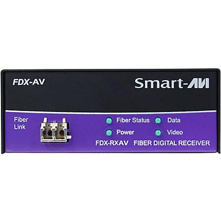 SmartAVI Point to Point DVI-D, Audio and RS232 over Multimode Fiber Extender