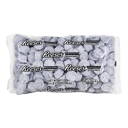Reese's Miniature Peanut Butter Cups, White, 66.7 Oz Bag