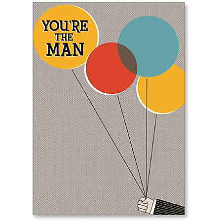 """Viabella His Birthday Greeting Card, You're The Man, 5"""" x 7"""", Multicolor"""