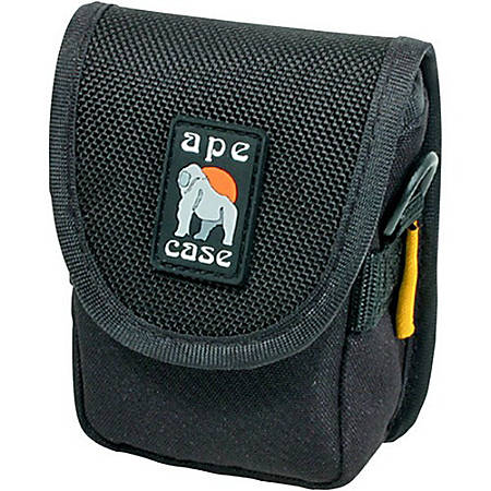 "Ape Case AC120 Digital Camera Case - Top Loading - Shoulder Strap4.38"" x 3.25"" x 1.75"" - Nylon - Black, Hi-Vis Yellow"