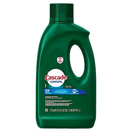 Cascade Complete Gel Dishwasher Detergent, Fresh Scent, 45 Oz, Pack Of 4 Bottles