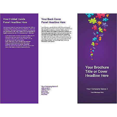 Customizable Trifold Brochure, Puzzle