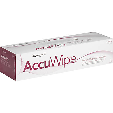 AccuWipe Prem Delicate Task Wipers - For Electronic Equipment - Soft, Non-abrasive, Absorbent, Streak-free, Disposable - Virgin Fiber - 15 / Box - 225 / Carton - White