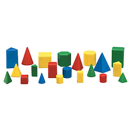Learning Resources Mini GeoSolids Shapes Set, Ages 5 And Up