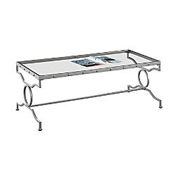 Monarch Specialties Glass Coffee Table Rectangular