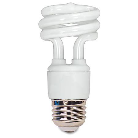 Satco® T2 Fluorescent Soft White Spiral Bulb, 11 Watts