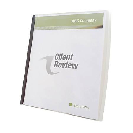 "GBC® Slide 'n Bind Report Covers, 8 1/2"" x 11"", Clear, Pack Of 10"