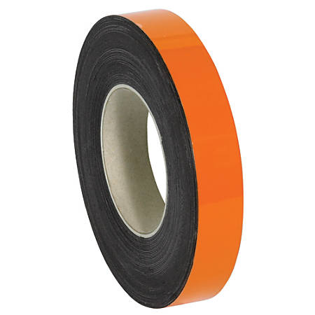 "Office Depot® Brand Magnetic Warehouse Label Roll, LH154, 1"" x 100', Orange"