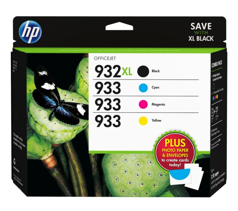 HP 932XL933 Black CyanMagentaYellow Original Ink Cartridges With Media Kit Combo Pack D8J69FN By Office Depot OfficeMax