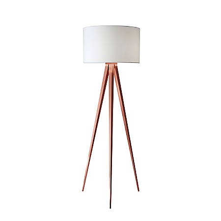 adesso director floor lamp 60 14 h white shadecopper base With adesso director floor lamp white
