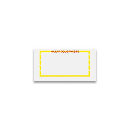 "Office Depot® Brand Packing List Envelopes, Top Loading, ""Hazardous Waste"", 5 1/2"" x 10"", Yellow Border, Pack Of 1,000"