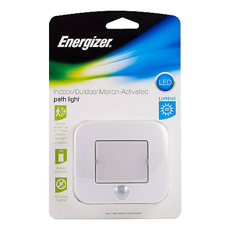Energizer® LED Motion Activated Indoor/Outdoor Path Light, White