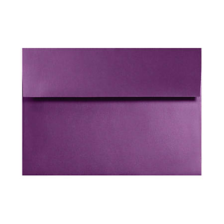 "LUX Invitation Envelopes With Moisture Closure, A2, 4 3/8"" x 5 3/4"", Purple Power, Pack Of 250"