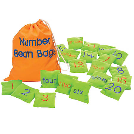 Learning Resources® Number Bean Bags, Pack Of 20