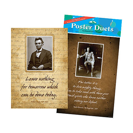 Barker Creek® Poster Duet Set, Presidential, Pack Of 2