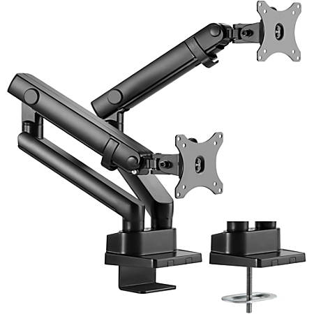 """Amer Mounting Arm for Curved Screen Display, Flat Panel Display - Matte Black - 2 Display(s) Supported32"""" Screen Support - 35.27 lb Load Capacity"""