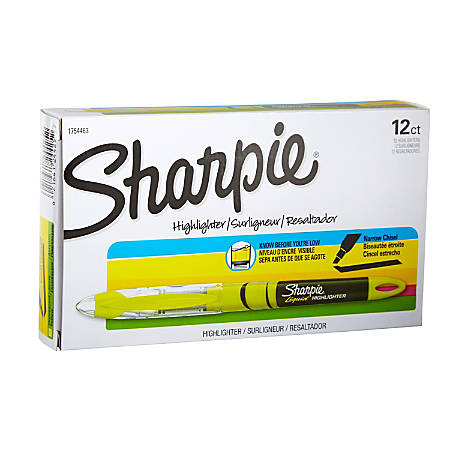 Sharpie® Accent® Liquid Pen-Style Highlighters, Fluorescent Yellow, Box Of 12