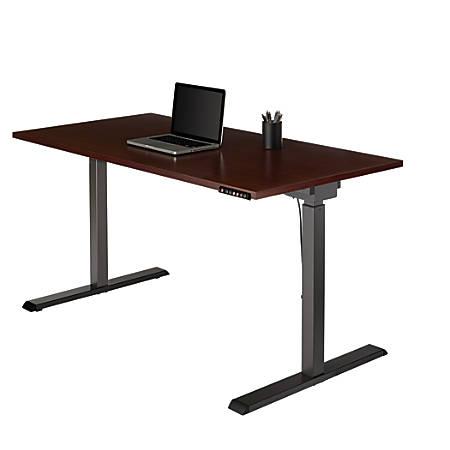 Realspace® Magellan Performance Electric Height-Adjustable Wood Desk, Cherry