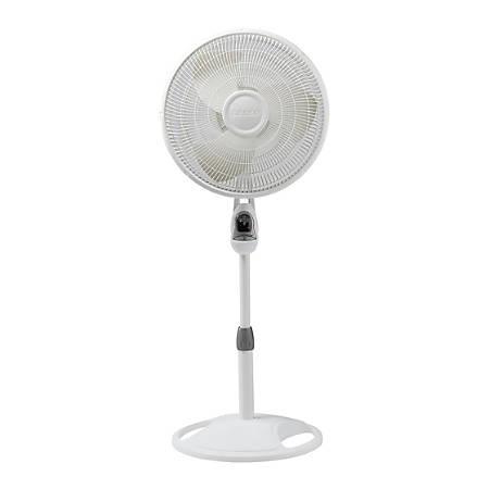 Lasko Oscillating Stand Fan - 406mm Diameter - 3 Speed - White