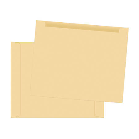 """Quality Park® Paper File Jackets, 9 1/2"""" x 11 3/4"""", Cameo, Box Of 100"""
