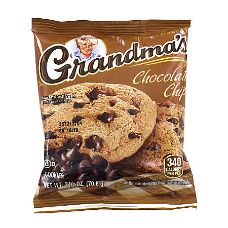 Grandma's Big Chocolate Chip Cookies, Pack Of 2, Box Of 60 Packs