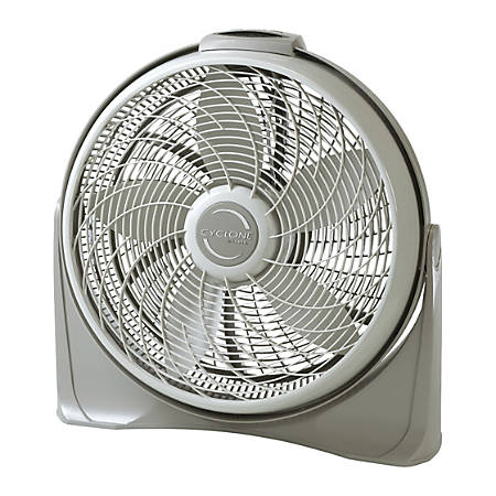 """Lasko 20"""" Cyclone with Remote Control - 20"""" Diameter - 3 Speed - Remote, Timer-off Function, Wall Mountable, Carrying Handle - 23.2"""" Height x 6.8"""" Width - Plastic Housing - Beige"""