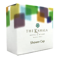 Kahala Polyethylene Shower Caps White Pack
