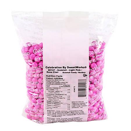 Sweetworks Sixlets Balls, Light Pink, 2-Lb Bag