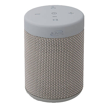"iLive ISBW108 Bluetooth® Waterproof Speaker, 3.5""H x 2.6""W x 2.6""D, Gray, ISBW108LG"