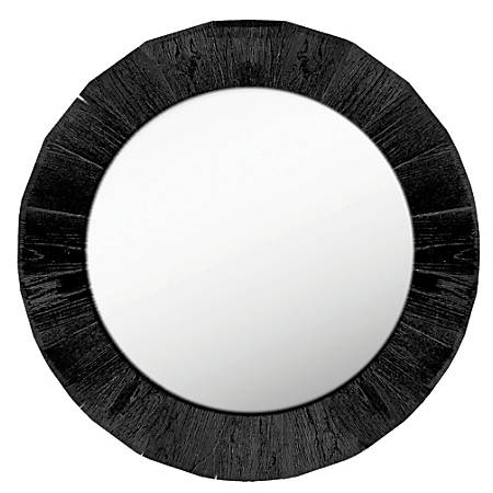 PTM Images Framed Mirror Round 28 H x 28 W Black by Office Depot ...