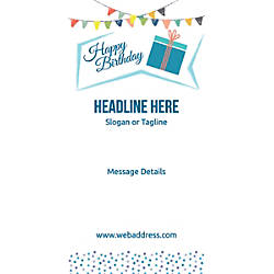 Custom Vertical Display Banner Birthday Gift