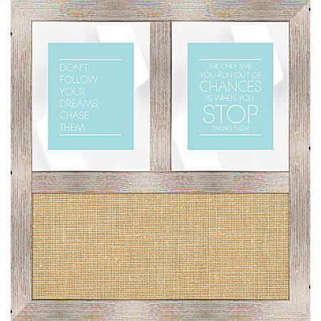 """PTM Images Framed Mirror, Burlap Board, 29 3/4""""H x 27 3/4""""W, White"""