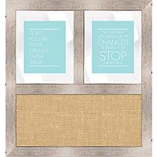PTM Images Framed Mirror Burlap Board