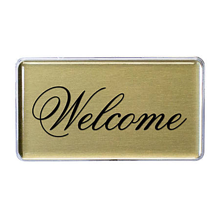 """The Mighty Badge™ do-it-yourself Aluminum Signage Kit, For 48 Signs, 1 1/2"""" x 2 3/4"""", Gold"""